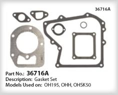 Tecumseh Gasket Set - Part No. 36716A
