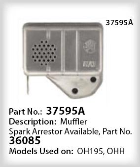Tecumseh Muffler - Part No. 37595A