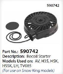 Tecumseh Recoil Starter 590787