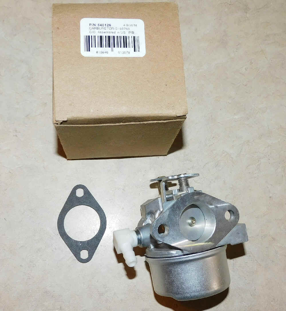 Tecumseh Carburetor Part No.  640126