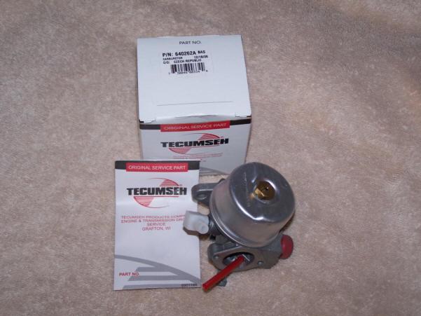 Tecumseh Carburetor Part No.  640076 AKA 640262A