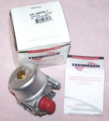 Tecumseh Carburetor Part No.  640278 AKA 640278A