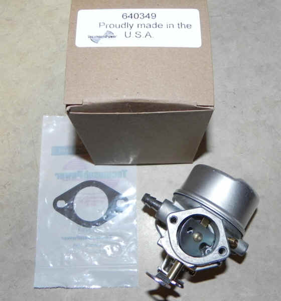 Tecumseh Carburetor Part No.  640349 FKA 640052 640054