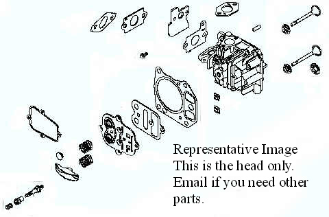 Tecumseh Cylinder_Head - Part No. 36187