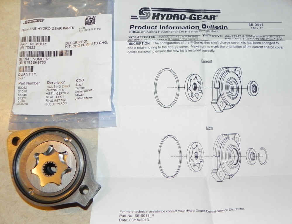Hydro-Gear Part Number 70622