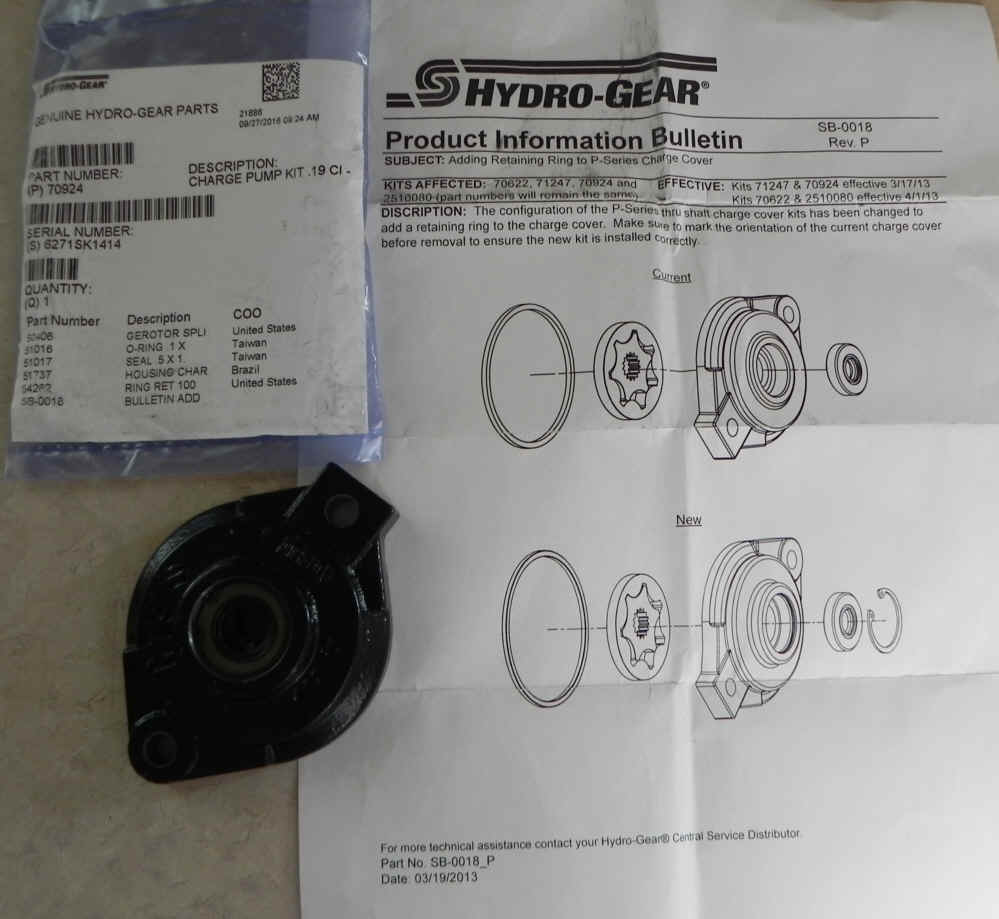 Hydro-Gear Part Number 70924