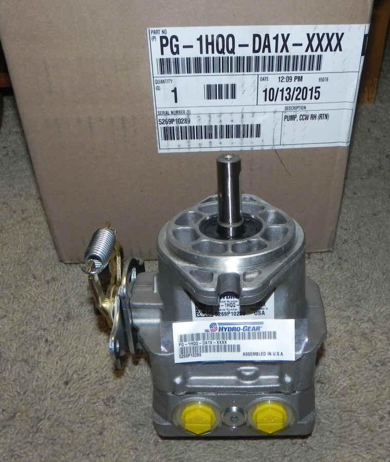 Hydro-Gear Part Number PG-1HQQ-DA1X-XXXX
